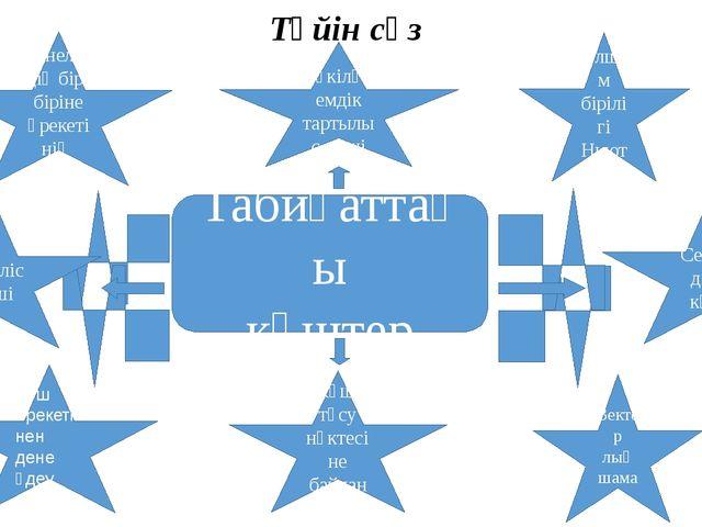 Түйін сөз Табиғаттағы күштер Денелердің бір- біріне әрекетінің сандық өлшемі...