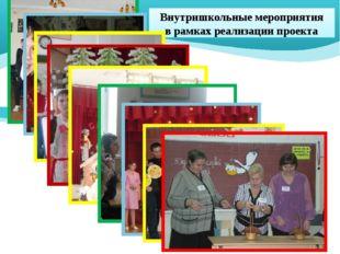 Внутришкольные мероприятия в рамках реализации проекта