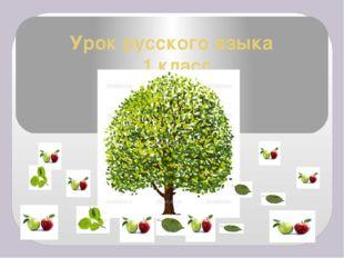 Урок русского языка 1 класс