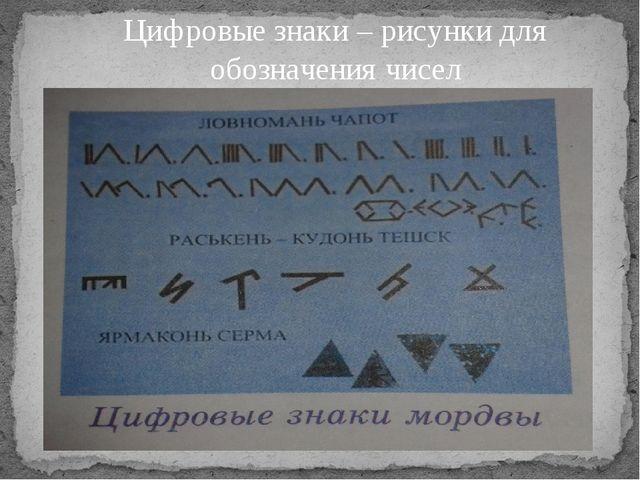 Цифровые знаки – рисунки для обозначения чисел