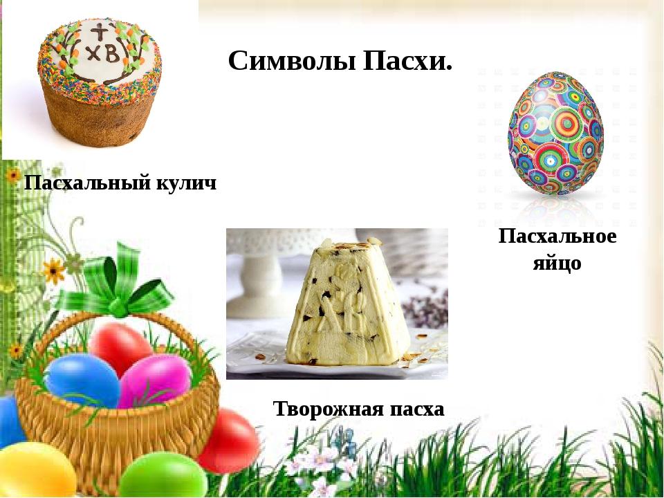 Символы Пасхи. Пасхальный кулич Творожная пасха Пасхальное яйцо
