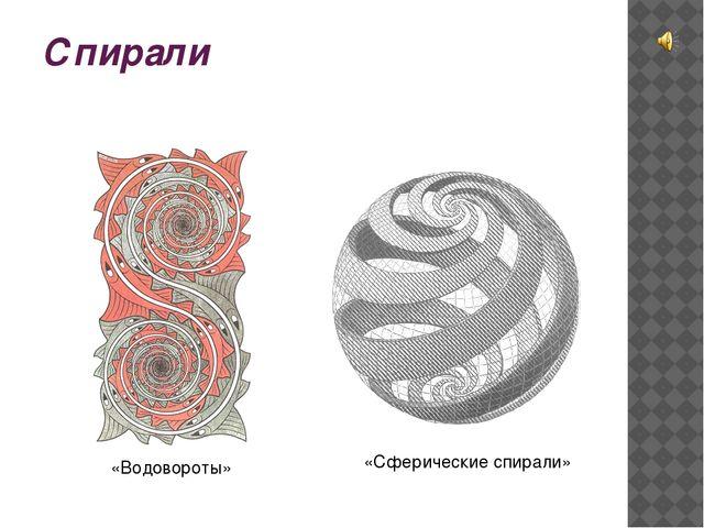 Спирали «Водовороты» «Сферические спирали»