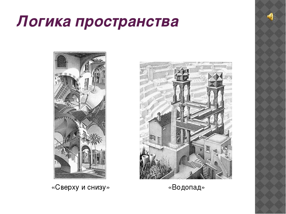 Логика пространства «Сверху и снизу» «Водопад»