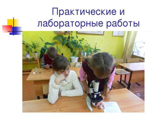 Практические и лабораторные работы