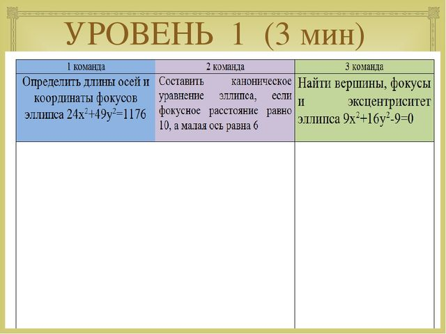 УРОВЕНЬ 1 (3 мин) 