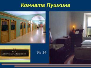 Комната Пушкина № 14