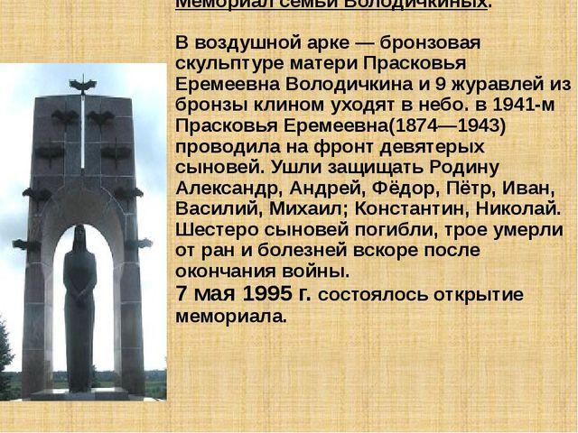Самарская область. Город Кинель. Посёлок Алексеевка Мемориал семьи Володичкин...