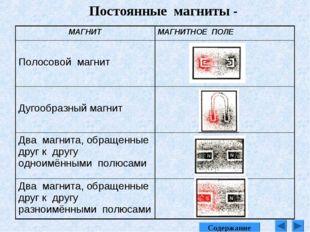 Постоянные магниты - Содержание МАГНИТМАГНИТНОЕ ПОЛЕ Полосовой магнит Дугоо