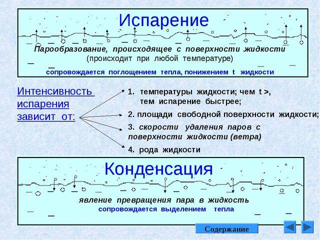 Испарение Парообразование, происходящее с поверхности жидкости (происходит пр...