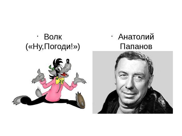 Волк («Ну,Погоди!») Анатолий Папанов