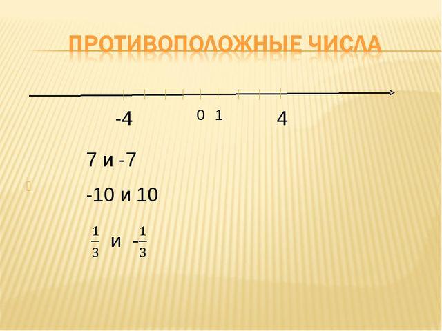 4 0 -4 1 7 и -7 -10 и 10
