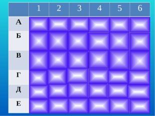 1 2 3 4 5 6 А А1 Слайд 3 А3 А5 А6 Б Б1 Б2 Б3 Б4 Б6 В В1 В2 Есть ли равные тр