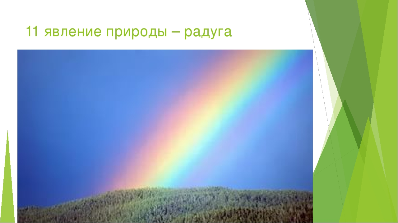 11 явление природы – радуга