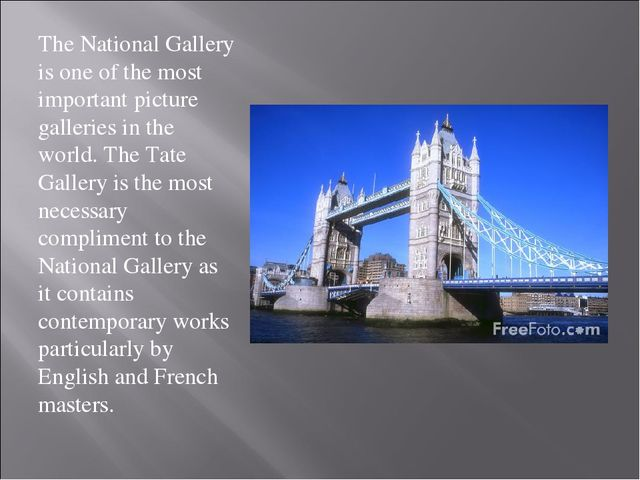 The National Gallery is one of the most important picture galleries in the wo...