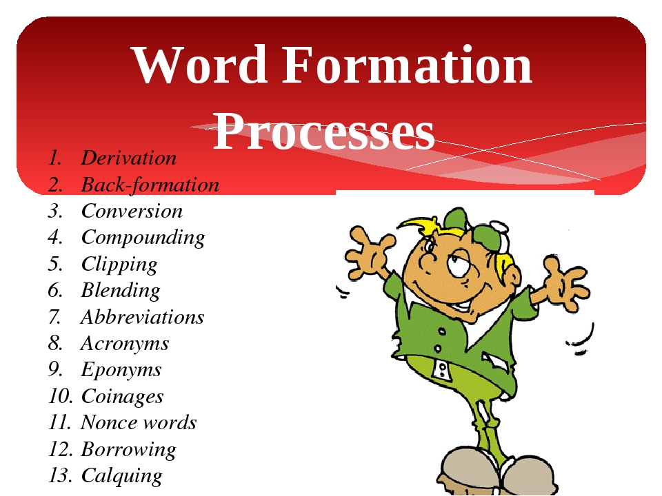 Word Formation Processes 1.Derivation 2.Back-formation 3.Conversion 4.Com...
