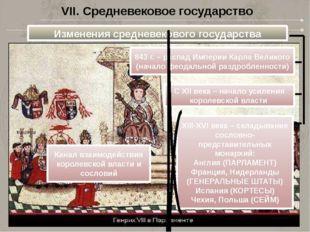VII. Средневековое государство Изменения средневекового государства 843 г. –