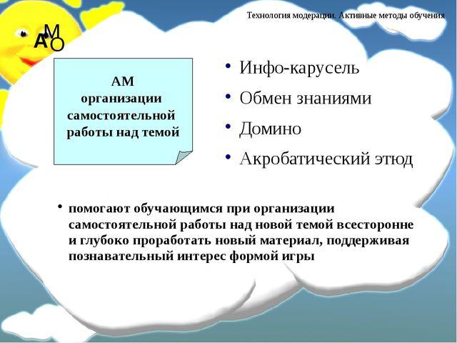 Инфо-карусель Обмен знаниями Домино Акробатический этюд АМ организации самост...
