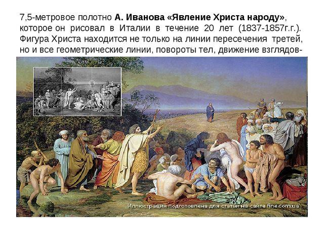 7,5-метровое полотно А. Иванова «Явление Христа народу», которое он рисовал в...