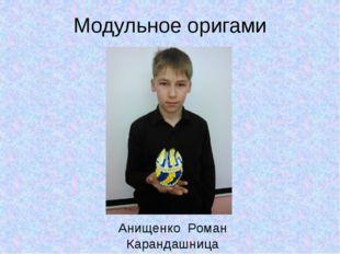 Модульное оригами Анищенко Роман Карандашница