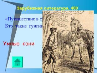 Зарубежная литература, 400 «Путешествие в страну гуигнгнмов». Кто такие гуигн