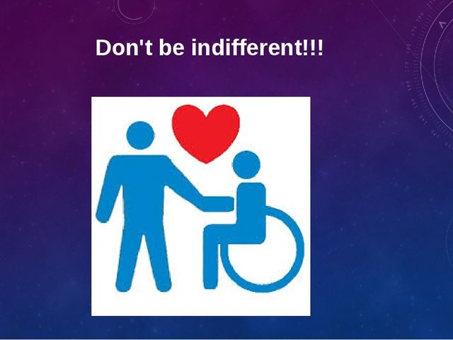 Don't be indifferent!!!