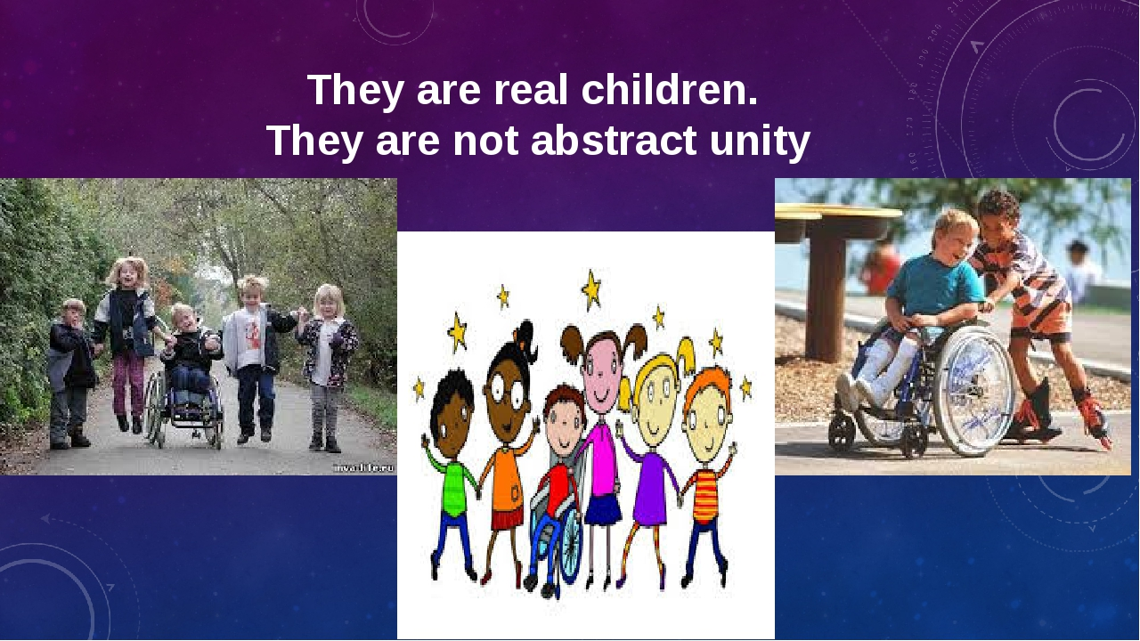 They are real children. They are not abstract unity