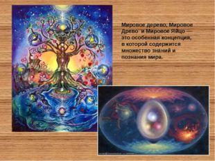 Мировое дерево, Мировое Древо и Мировое Яйцо — это особенная концепция, в ко