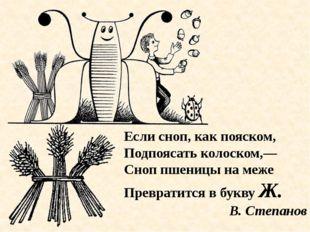 Если сноп, как пояском, Подпоясать колоском,— Сноп пшеницы на меже Превратитс