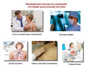 Медицинские методы исследования состояния дыхательной системы Аускультация (