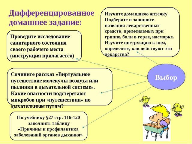 Дифференцированное домашнее задание: Проведите исследование санитарного состо...