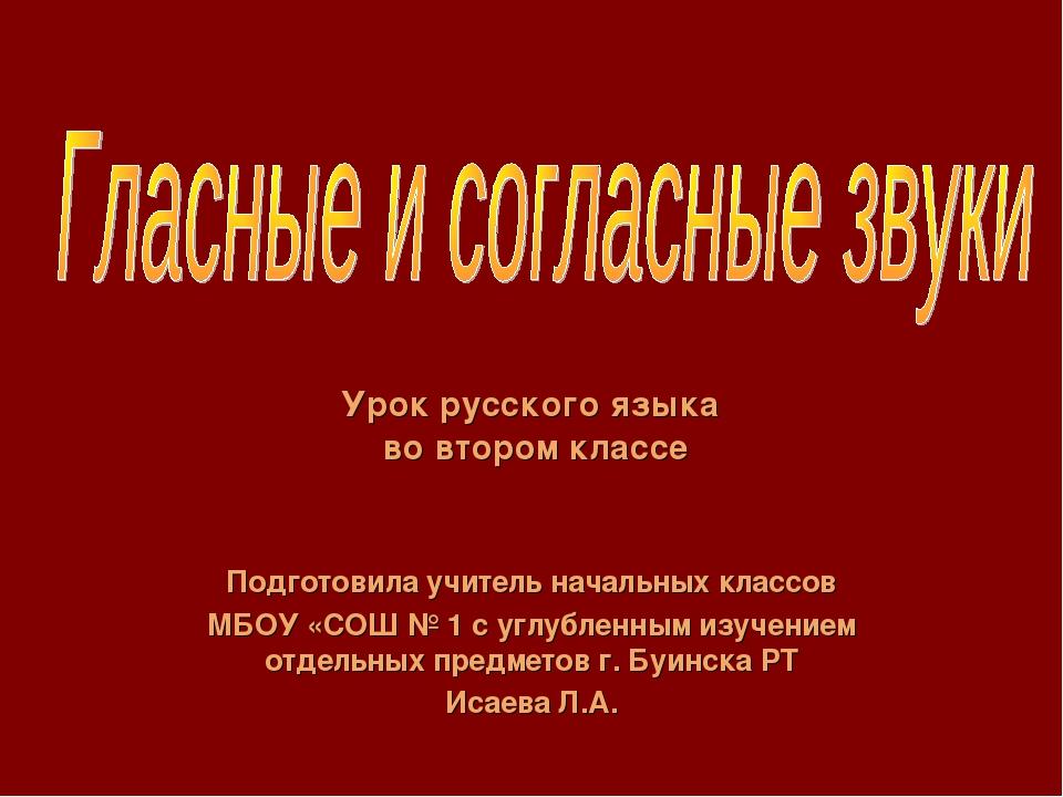 Подготовила учитель начальных классов МБОУ «СОШ № 1 с углубленным изучением о...