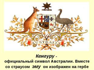 Кенгуру - официальный символ Австралии. Вместе со страусом эму он изображен н