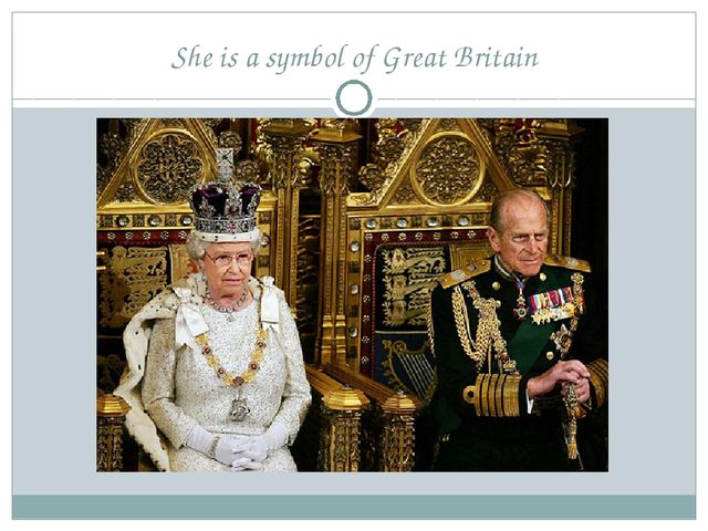She is a symbol of Great Britain