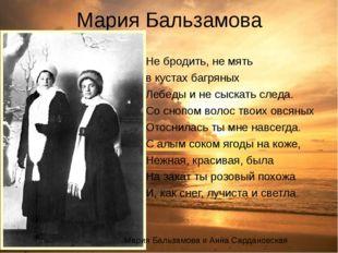 Мария Бальзамова Не бродить, не мять в кустах багряных Лебеды и не сыскать сл