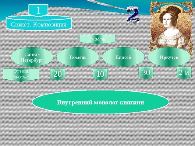 Санкт-Петербург Тюмень Енисей Иркутск Отъезд завязка 20 10 30 I часть Внутрен...
