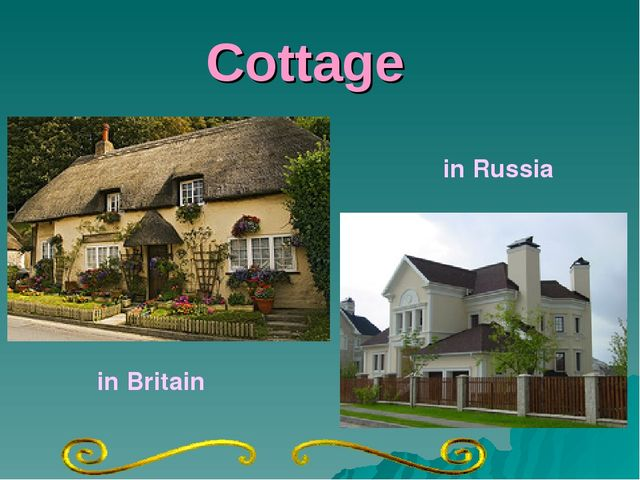 Cottage in Britain in Russia