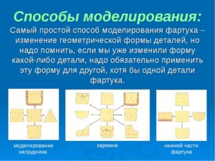 Способы моделирования: Самый простой способ моделирования фартука – изменение