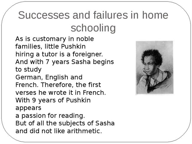 As is customary in noble families, little Pushkin hiring a tutor is a foreign...