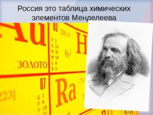 Россия это таблица химических элементов Менделеева