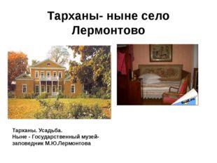 Тарханы- ныне село Лермонтово Тарханы. Усадьба. Ныне - Государственный музей-