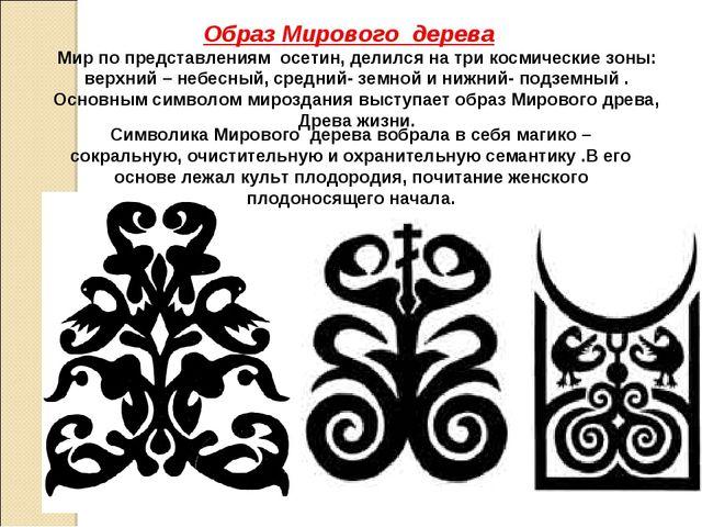 Мир по представлениям осетин, делился на три космические зоны: верхний – небе...