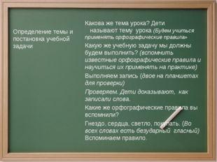 Определение темы и постановка учебной задачи Какова же тема урока? Дети назы