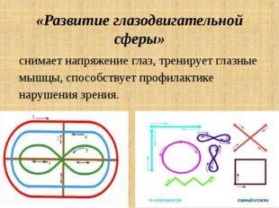 «Развитие глазодвигательной сферы» снимает напряжение глаз, тренирует глазные