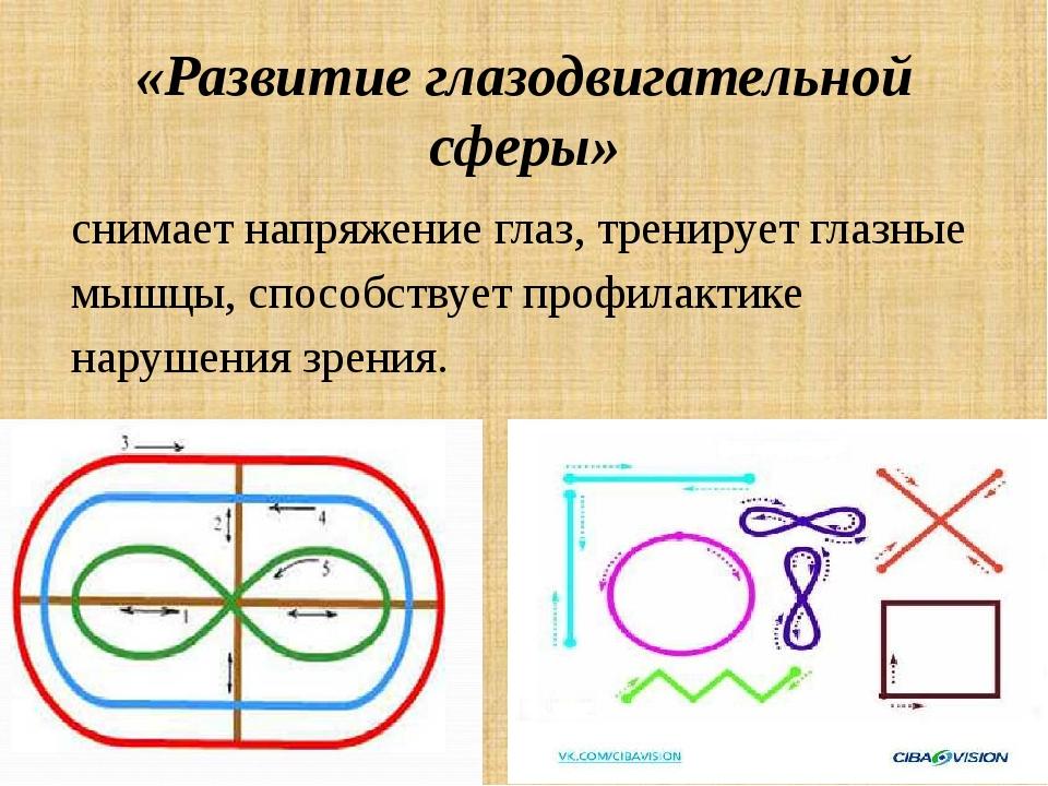 «Развитие глазодвигательной сферы» снимает напряжение глаз, тренирует глазные...