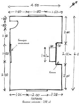 Как нарисовать масштаб своей комнаты