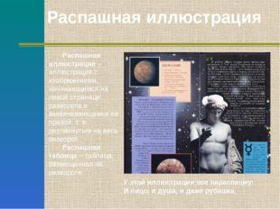 Распашная иллюстрация – иллюстрация с изображением, начинающимся на левой ст