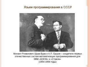 Михаил Романович Шура-Бура и А.П. Ершов – создатели первых отечественных сист