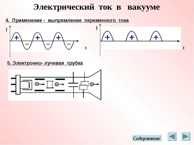 Электрический ток в вакууме 4. Применение - выпрямление переменного тока I I...
