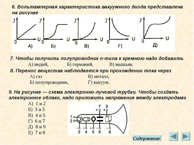 6. Вольтамперная характеристика вакуумного диода представлена на рисунке 7. Ч...