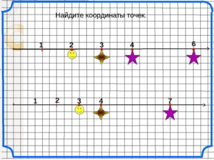 Найдите координаты точек. 1 2 3 4 6 2 3 1 4 7